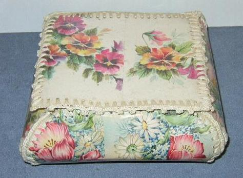 Hand-Stitched, Vintage, Greeting Card Box