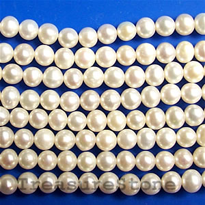 Round shape, white pearls