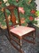 Vintage William & Mary Style Rocker w/Plaid Seat