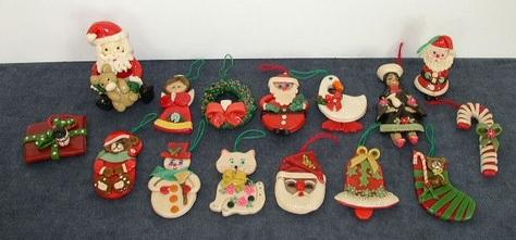 Vintage, Handmade Dough Ornaments