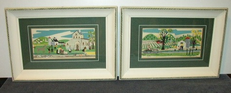 Folk Art - Framed Prints with Glass