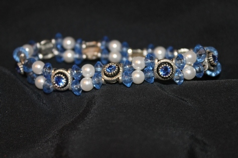 Swarovsk- Crystal- Faceted- Loose- Glass Beads- Bracelet