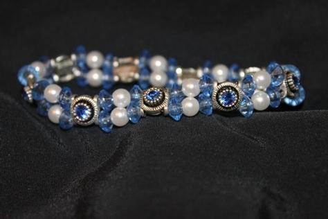 Swarovsk- Crystal- Faceted- Loose- Glass Beads- Bracelet