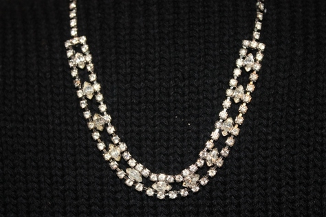 Australian-Crystal-Silvertone-Necklace-Earring-Set