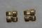 Vintage Avon Basket Weave Square Pierced Earrings Gold Tone