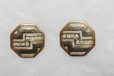 Vintage-Avon-Rhinestone-Centennial-Pierced-Earrings