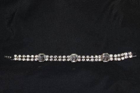 Australian-Crystal-Silvertone-Bracelet