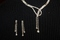 Austrian Crystal Love Knot Necklace & Earring Set