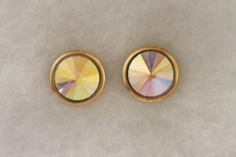 Vintage-Avon-Faceted-Crysta- Stud-Pierced Earrings