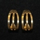 Vintage Avon Open Rib Half Round Hoops Gold Tone Pierced Earring