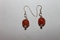 Sterling Silver Orange Glass Beads Earrings