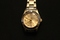 Goldtone Water Resistant Round Case Bracelet Ladies Watch