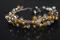 Handcrafted Silvertone/Goldtone Metal Beads Bracelet