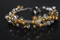 Handcrafted Silvertone & Goldtone Metal Beads Bracelet