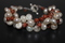 Handcrafted Goldstone Beads Bracelet with Glass Pearls