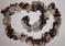 Hand Knit Ruffle Scarf Copper Brown Beige