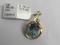 Pendant-Light Blue Gemstone: 10kt Yellow Gold (Orig Price $760)