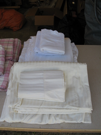 cotton sheet set, cream