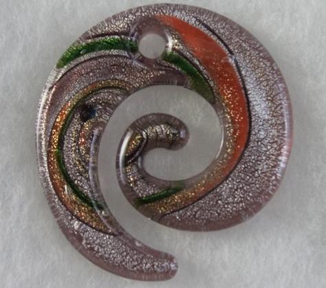 murano-Amber- Green- Light Amethyst-Gold