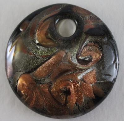 murano-Gold-Black- cocoa-silver-bronze-pendant