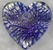 Murano Silver Rain Blue Heart Glass Pendant