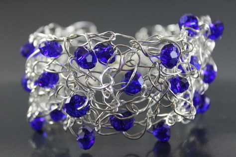 handcrafted-blue-glass-beads-braided-non-tarnish-silver-wire