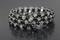 Handcrafted Hematite Swarovski Beads Memory Wire Bracelet
