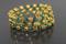 Handcrafted Green Swarovski Beads Memory Wire Bracelet