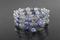 Handcrafted Dumortierite Quartz & Silvertone Beads Bracelet