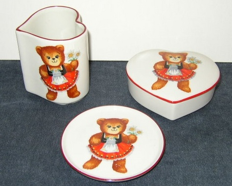 Item #1 - Set of Teddy Bear Collectibles