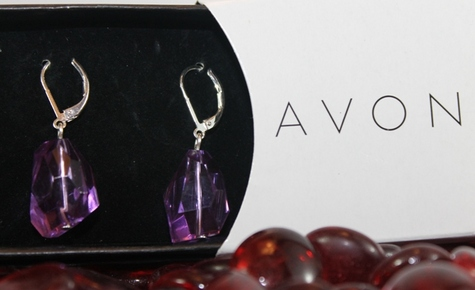 avon-vintage-purple-faceted-earrings