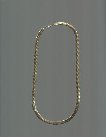 Gold-plated 12 inch snake chain necklace