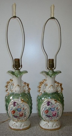 Pair - Antique Table Lamps