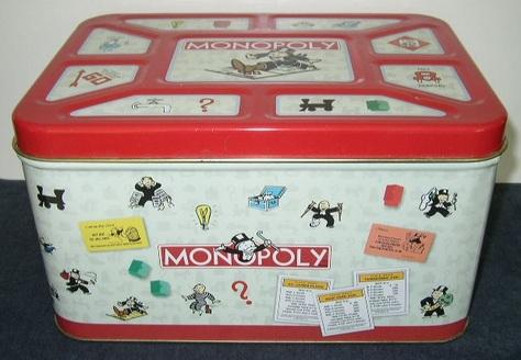 Monopoly Tin Bread Box
