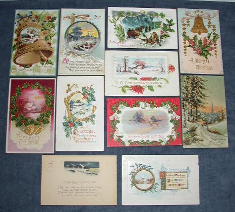 1900s Christmas Holiday Post Cards