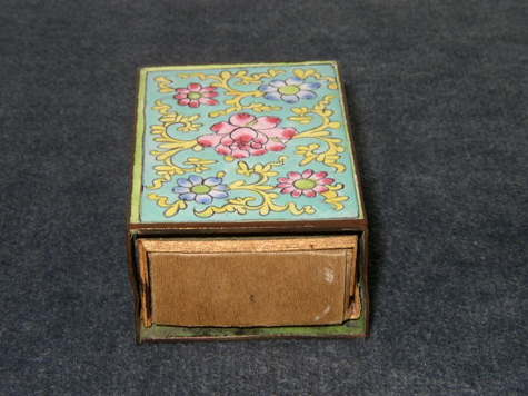 Item #1 - Floral Design with Safety Matchbox