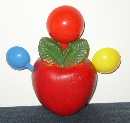 Item #1 - Chalkware Apple with Measuring Spoons