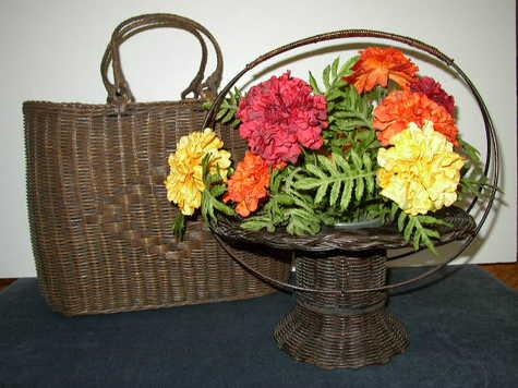Items #1 & #2 - Antique, Wicker Baskets