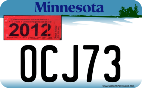 Minnesota ATV Plate