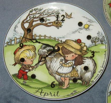 Item #1 - Battery Operated April Plate Clock