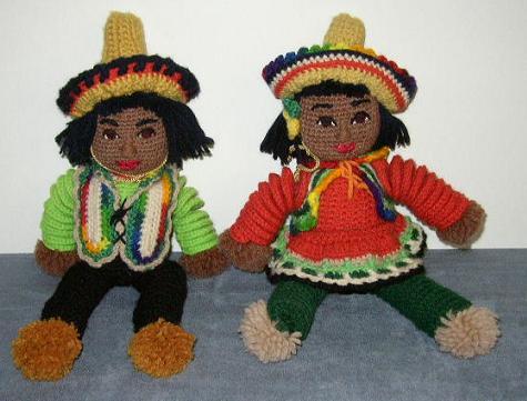 Item #1 - Hand-Crochet Yarn Dolls