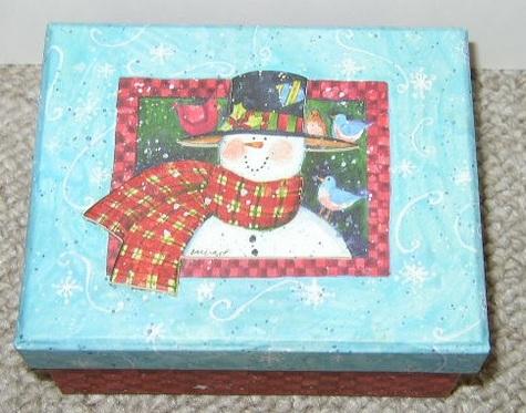 Susan Winget - Raised 3-D Snowman Box