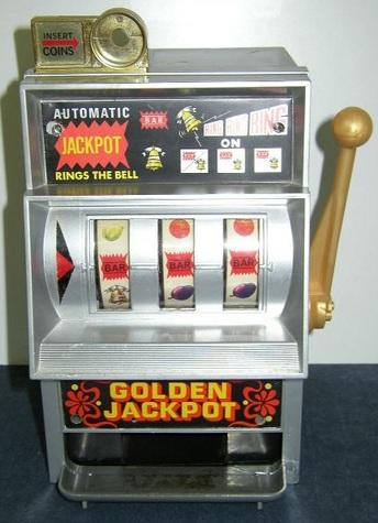 Golden Jackpot - Toy Slot Machine Game & Bank