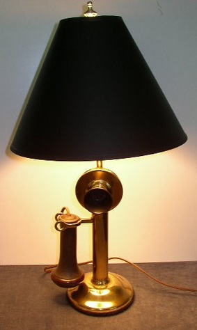 Antique, Western Electric, Candlestick Phone Lamp