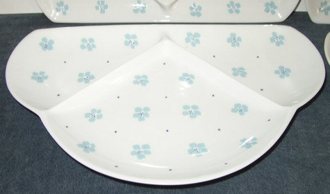 White & Blue, Divided Fan Plates