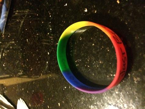 New rainbow rubber bracelet