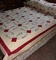 Double Wedding Ring quilt with matching pillowcases