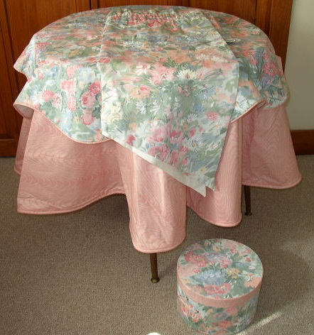 Matching Hat Box, Curtain & Table Cloth