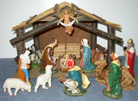 18 Piece Italian Paper Mache Nativity
