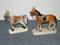 Ceramic Porcelain Horses with Reins